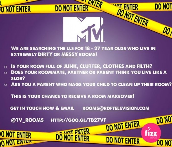 MTV are looking for young people who live in messy rooms!